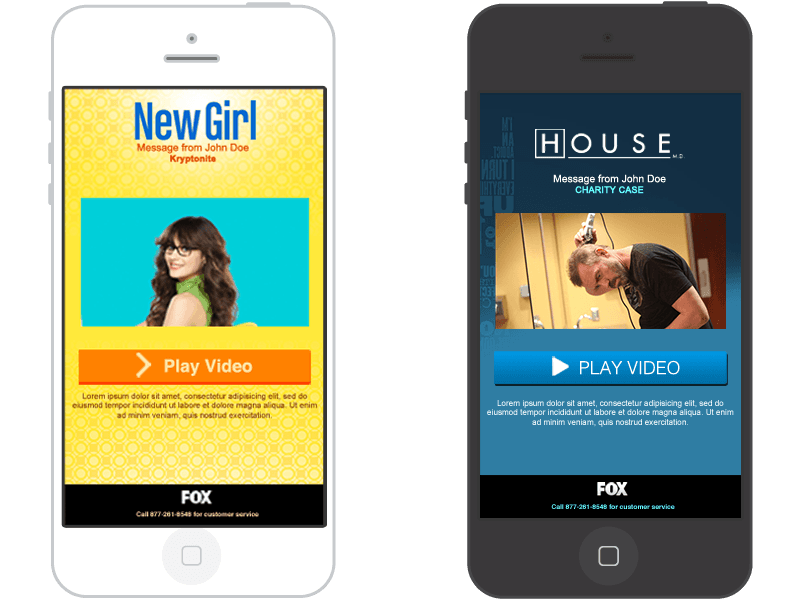 Fox's New Girl and House mobile landing page