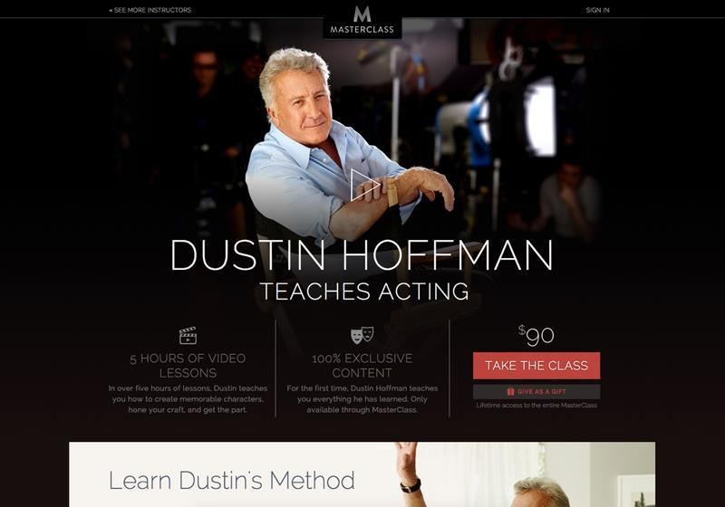 Dustin Hoffman course page