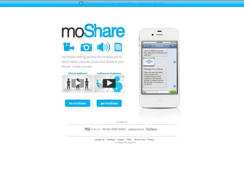 moShare mobile sharing