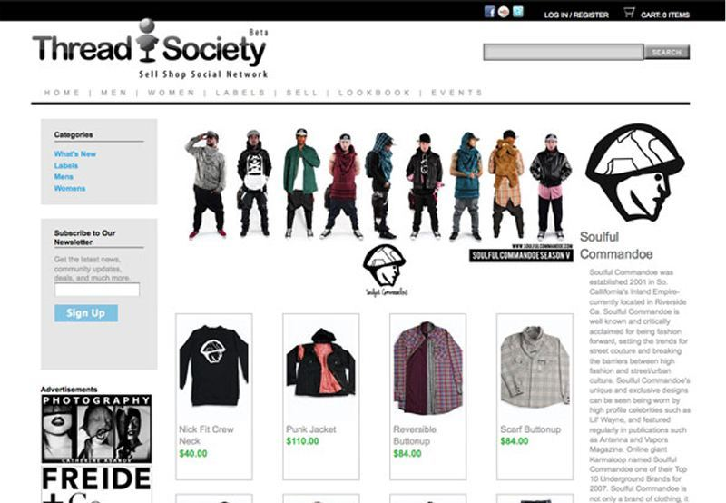 Threadsociety fashion social network